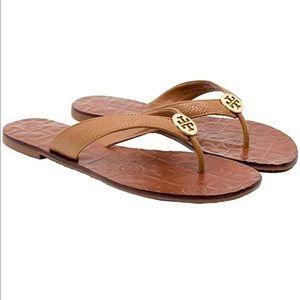 Tory Burch Thora Thong Sandal Tan Size9